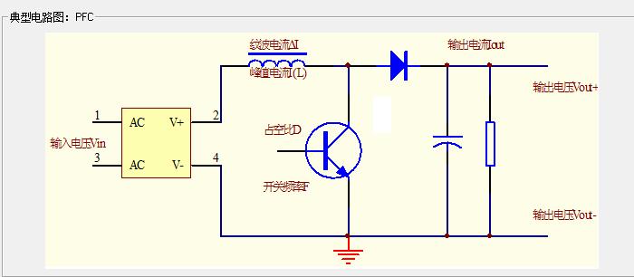 在电源与驱动电动机之间,需要通过pfc转换器,即升压变换降压变换